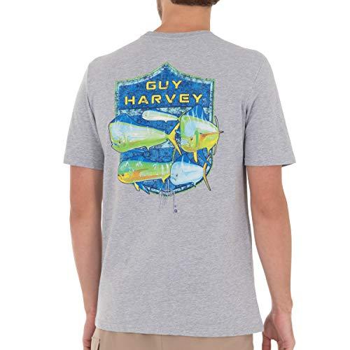Guy Harvey Men's Offshore Haul Mahi Short Sleeve T-Shirt, Sport Grey Heather Mahi, X-Large