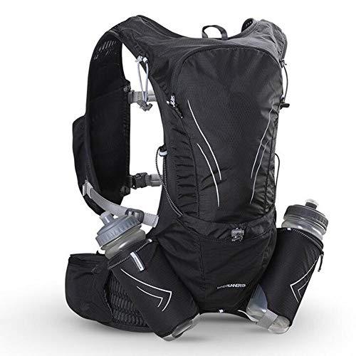 SHLYXY Rucksack Im Freien Laufen Langlauf Rucksack 15L Männer Und Frauen Umhängetasche Marathon Reiten Wasserflasche Lauftasche Weste Männer Sport- und Freizeittasche (Color : Black)