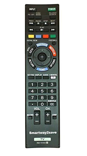 Sony RM-YD103 Replacement Smart TV Remote Control