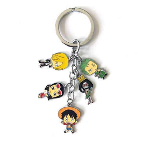 Schlüsselanhänger One Piece Luffy Strohhut Chopper Schlüsselanhänger Schlüssel Ring Tropfen Metall Anhänger Schlüssel
