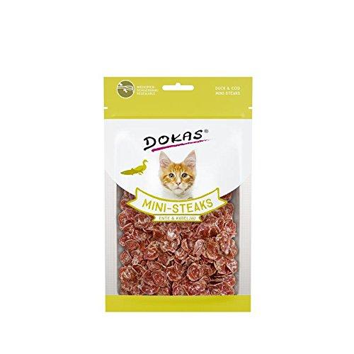 Dokas Katzen-Snack Ministeak Ente & Kabeljau | 10x 40g