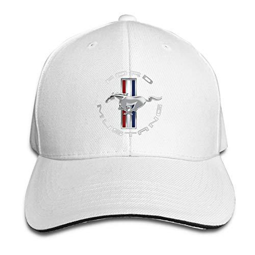Aiier Mu-Stang Gt Logo Unisex-Kappe Verstellbare Hut-Sandwich-Kappe