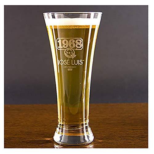 Calledelregalo Regalo Personalizable para cumpleaños: Copa de Cerveza Alemana grabada con su...