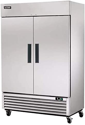2 Door Commercial Refrigerator Stainless Steel Upright Refrigerator with 6 Adjustable Shelves product image