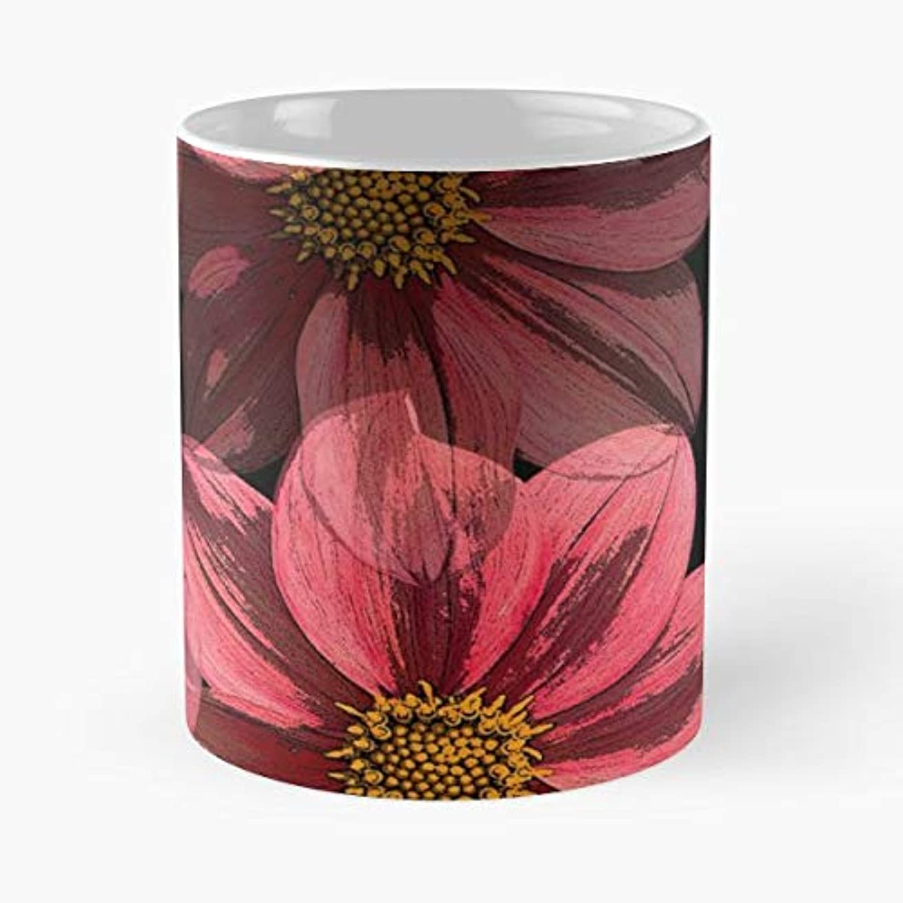 Floral Nature London - 11 Oz Coffee Mugs Unique Ceramic Novelty Cup, The Best Gift For Holidays.