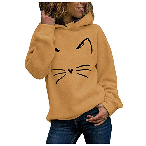 YSLMNOR Lightweight Sweatshirts Womens Cute Graphic Blouses Long Sleeve Hoodies Spring Pullover Tops Yellow