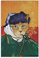 ウォールアート猫アートポスターポスター装飾画キャンバス壁アートポスター絵画40x60cm x1 フレームレス