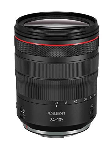 Canon Zoomobjektiv RF 24-105mm F4L IS USM für EOS R (77mm Filtergewinde, Bildstabilisator, Autofokus), schwarz