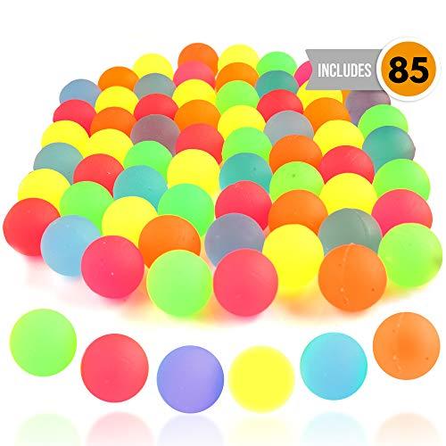 DIE TWIDDLERS 85pcs Mini Neon Rubber Bouncers |25mm Gefüllte Springbälle Geburtstag, Piñata, Ideales Indoor-Spielzeug für Kinder, für Spielstunden und Unterhaltung