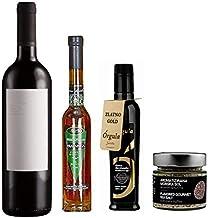 ギフトセット – クロアチア産 辛口赤ワインx1本|EXVオリーブオイルx1本 | ラキヤブランデーx1本 | トリュフ塩x1本Croatian Assorted Gift Set Dry Red Wine Olive Oil Rakija B...