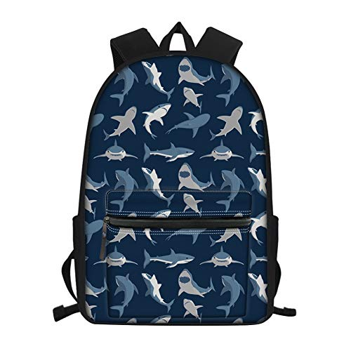 Nopersonality Kinder-Schulrucksack mit süßem Hund, Katze, Faultierball-Druck, Schultertasche, Büchertasche, Tagesrucksack, Blau