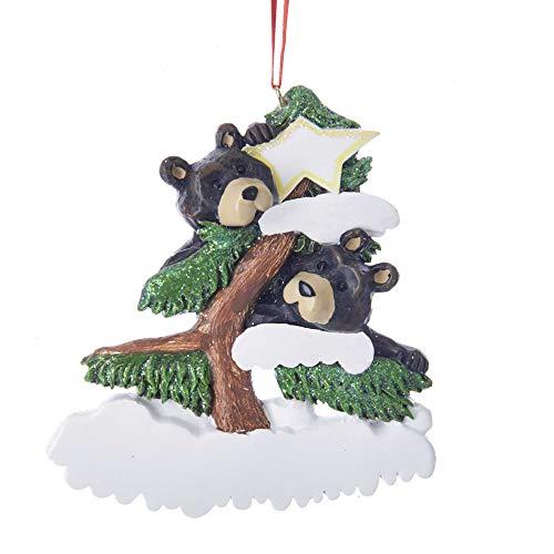 Kurt Adler Bear Family of 2 on Tree Ornament