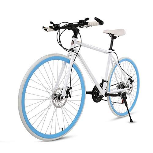 CHHD Carretera Velocidad Variable Bicicleta de montaña Bicicleta de 26 Pulgadas con Freno de Disco Dual Estudiante Fluorescente Bicicleta para Adultos, 21 velocidades