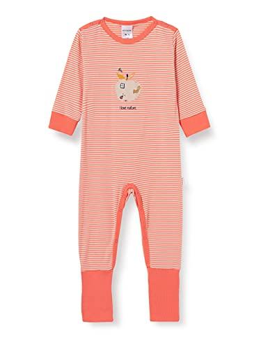 Schiesser Baby-Mädchen Anzug Vario Fuß Kleinkind-Schlafanzüge, Koralle, 92