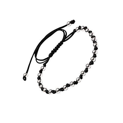 LA FALCONI Jewellery Pulsera de Bolas con Nudos Bari, Pulsera Noble para Hombres y Mujeres, Pulsera de Bolas Unisex