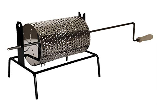 Sbalchiero Tostacastgne con Cesto in Acciaio Inox - Tosta caldarroste Girevole. per Cucinare Le caldarroste o Castagne con Cesto Rotante. Art.70.548-100% Made in Italy -