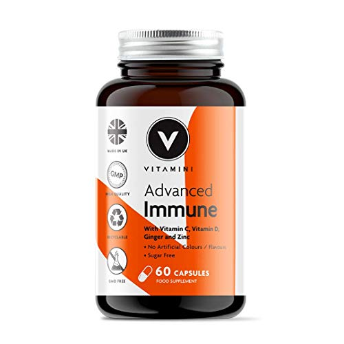 Vitamini Advanced Immune Booster Supplement with Vitamin C, Vitamin D & Zinc - 30 Day Supply