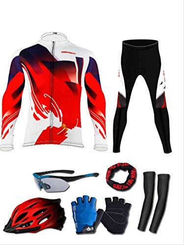 ZHAOYAN Mountainbike Suit Set Lange mouwen Herenlente, Zomer, Herfst En Winter Fietsbroeken Heren En Dames Fietsuitrusting