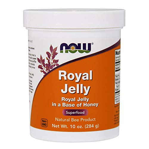 NOW Supplements, Royal Jelly 730 mg with Raw Honey, Natural Bee Product, Superfood, 10-Ounce