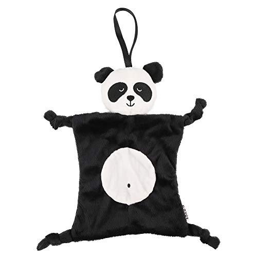 Atyhao Toalla de Seguridad para bebés, Felpa para niños pequeños Toalla de Seguridad para bebés Manta Apaciguamiento Infantil con muñeca Animal Toalla de muñeca de Dibujos Animados(Panda)