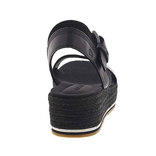 Timberland Santorini Sun Ankle Strap Sandal Black Full Grain 7.5