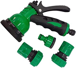 Pack of Plastic Garden Shower, Hose reducer 1/2 Inch and 3/4 Inch Size and 2 Pieces 3/4 Inch Hose Connectors