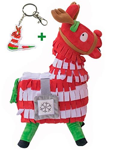 Blest Guest Christmas Loot Llama Peluche Bambola farcita Figura, Troll Stash Animal Alpaca Regalo per Bambini Ragazzi Ragazze Bambini (M)