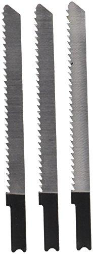 IVY Classic 28545 4-Inch 10 TPI U-Shank Jig Saw Blade, Wood/Laminate Down-Cutting, High-Carbon Steel, 3/Card