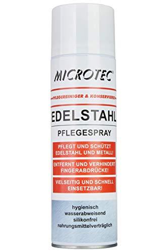 Microtec® Edelstahlreiniger und Edelstahlpflege| 500ml | starke Reinigungs- und Pflegekraft| Anti-Fingerabdruck | wasser- und schmutzabweisend | silikonfrei | auch im Nahrungsmittelbereich einsetzbar