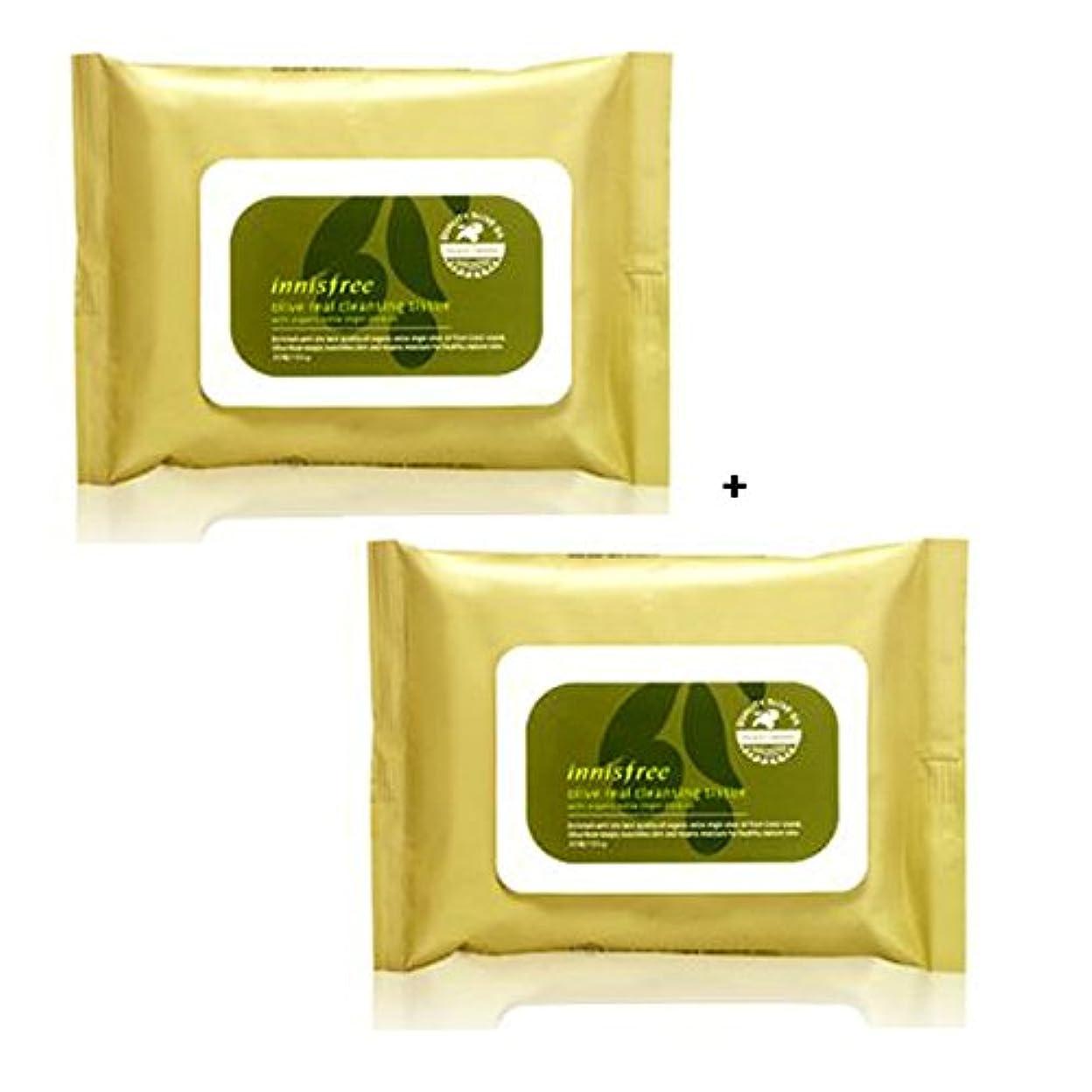 創始者一時解雇する従うイニスフリー Innisfree オリーブリアル クレンジングティッシュ (30枚x2) Innisfree Olive Real Cleansing Tissue (30sheetsx2Pcs) [海外直送品]
