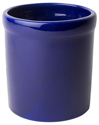 American Mug Pottery Ceramic Utensil Crock Utensil Holder, Made in USA, Blue