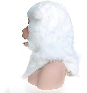 Hot Selling Realistic Animal Head Mask Faddish Realistic Handmade Customized Halloween Moving Mouth Mask Macaque Simulation Animal Mask Animal Head Mask ( Color : White , Size : 25*25 )