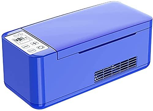 WXking Caja de insulina Caja de Fresco Zin Frigorífico Mini Dimensiones de la Nevera del zin portátil: 251 * 111 * 104mm Refrigerador de insulina Fresco (Color : Blue)