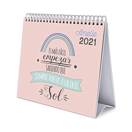 ERIK - Calendario de Escritorio 2021 Amelie, 17x20 cm