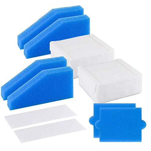 X SIM FITNESSX 2 Stück Filter Set komplett 5-teilig geeignet für Thomas Staubsauger der Baureihe Aqua+,Alternative für Thomas Filterset 99 (Teile-Nr. 787241), Ersatzteil enthält 5 Filter