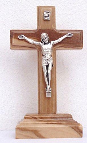 Christshop Standkreuz Olivenholz 14 cm