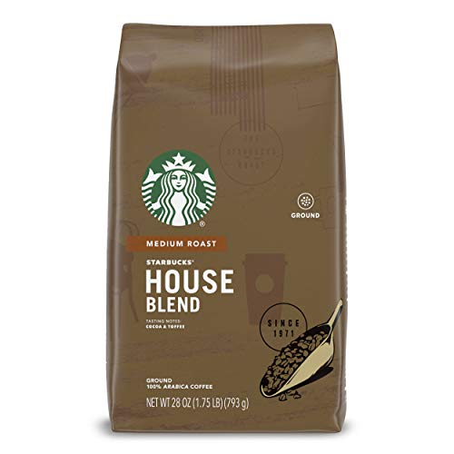 Starbucks Medium Roast Ground Coffee — House Blend — 100% Arabica — 1 bag (28 oz.)