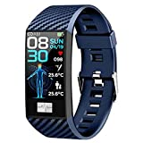 XYZK DT58 Smart Muñequera Impermeable Impermeable 1.14 Pulgadas Pantalla Smart Watch Multi-UI Pantalla ECG Monitor De Ritmo Cardíaco Smartwatch Fitness para Hombres,D