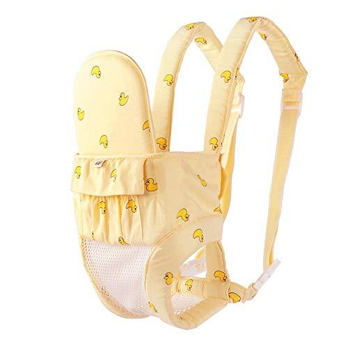 Portabebés saliente de malla transpirable de doble uso, portabebés de verano, parte delantera y trasera multifuncionales-Pequeño amarillo