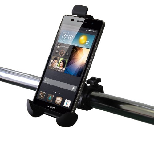 Luxburg® Universele fiets Bike racefiets houder in grootte verstelbaar voor Huawei Ascend Y300 / Ascend Y530 / Ascend P7 Smartphone - voor bevestiging aan het stuur