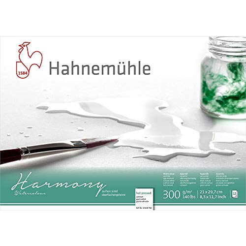 Hahnemuhle Harmony Watercolour Block Hot Press A4