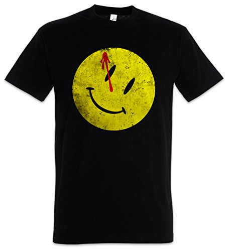 Urban Backwoods Bloody Button Herren T-Shirt Schwarz Größe 4XL