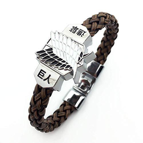 CAR-TOBBY Attack on Titan Bracelet, Japanese Anime Braid Wristband for Men and Women