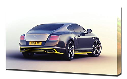 Lienzo impreso en lienzo para pared de la serie Bentley-Continental-GTSpeed-Breitling Jet-Team-Series-V3-1080