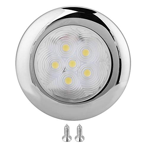 Boot LED Dome Light voor Marine Boat Yacht 6 LED licht binnen Dome Light RVS Wit LED Accent plafond Dome Lamp 12V DC
