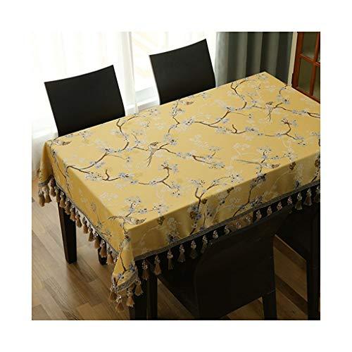 Qiao jin tafelkleden tafelkleed vogel taal bloemen geborduurd stof tafelkleed rechthoekige eettafel salontafel tafelkleed tafelkleed