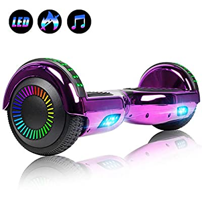 Felimoda 6.5 Inch Hoverboard LED Wheels Lights self Balancing Scooter Dual Motors UL Certified Hover Board w/Self Balancing Mode