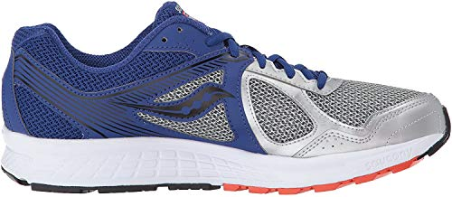Saucony Men's Cohesion Running Shoe, Silver Blue, 10 M US