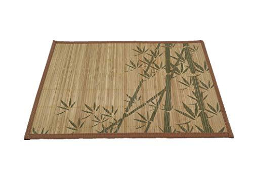 Solagua Salvamantel de Bambú Individual Pack de 6 Manteles Enrollables Antideslizantes y Antimanchas (30 x 45 cm, Art.223)