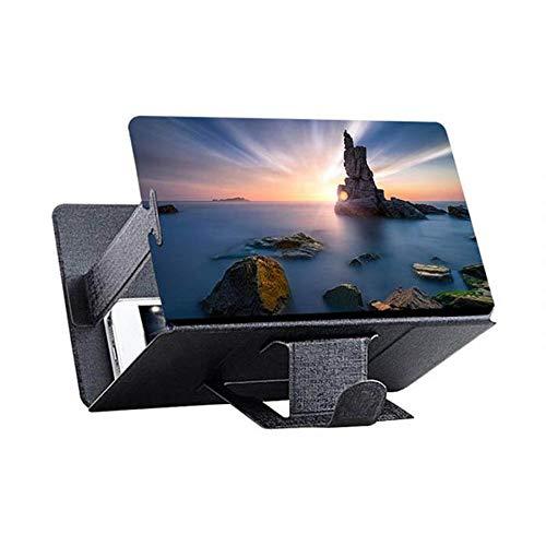 BXU-BG Universal-Handy-Screen Magnifier for Handy-Video Screen Amplifier 3D beweglichen Schirm for Smartphone vergrößerter Bildschirm (Color : 8inch Black)